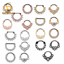 G23titan 16G Nose Piercing Ring Indian Septum Clicker Nose Rings Piercing Body Jewelry Hoops Helix Piercing Ear Cartilage Gifts