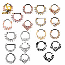 G23titan 16G Nose Piercing Ring Indian Septum Clicker