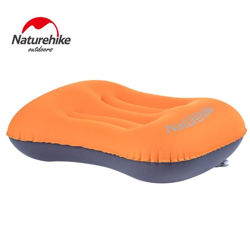 NatureHike Mini viaje portátil ultraligero aire almohada inflable al aire libre CampingTravel suave almohada envío libre