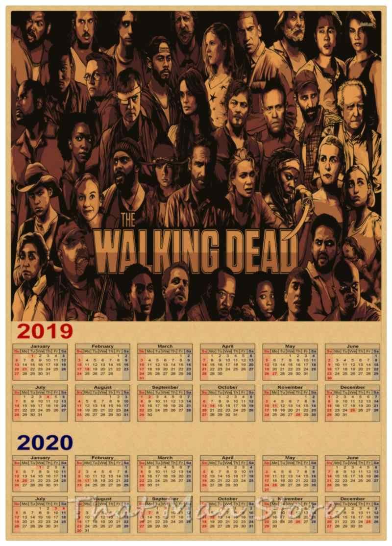 2020 Walking Dead Calendar Detail Feedback Questions about The walking dead 2019 2020