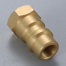 R12 to R134A Conversion Adapter Valve Brass 1/4 SAE Female Thread 8v1