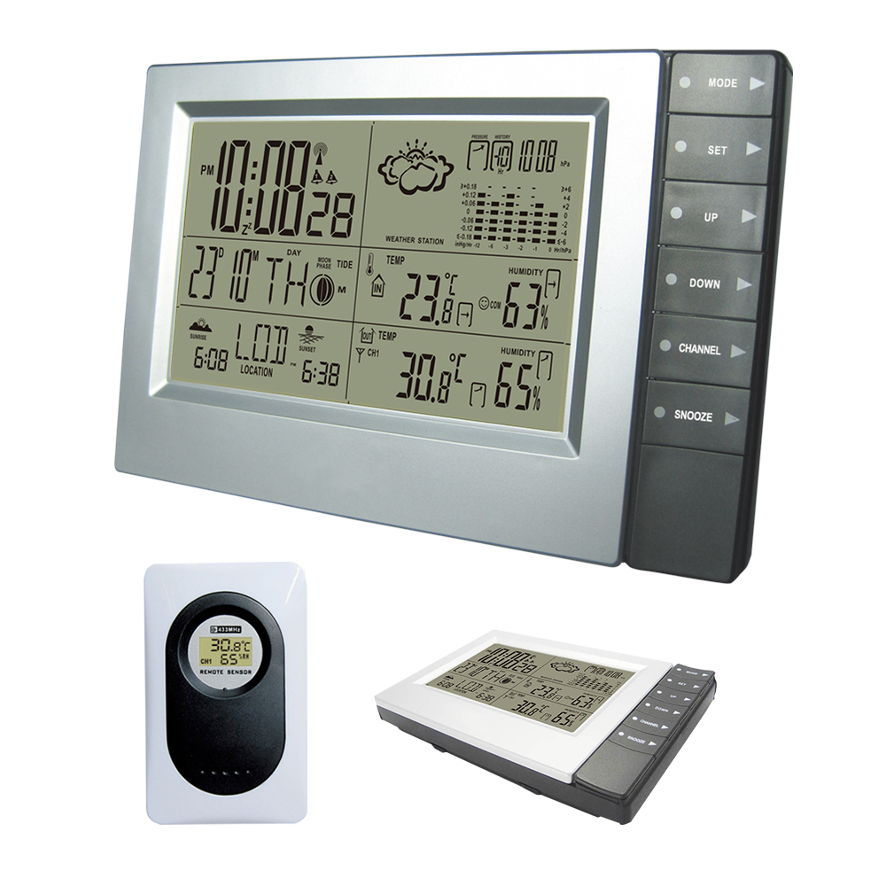 433MHz Wireless Weather Station With Forecast Temperature Digital Thermometer 9U