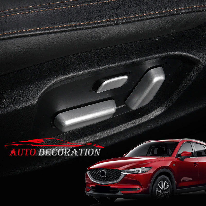 6* Car styling Interior Accessories ABS Matte Car Seat Memory Button Cover For Mazda CX-5 CX5 2nd Gen 2017 2018 for mazda cx 5 cx5 2017 2018 kf 2nd gen car co pilot copilot stroage glove box handle frame cover stickers car styling