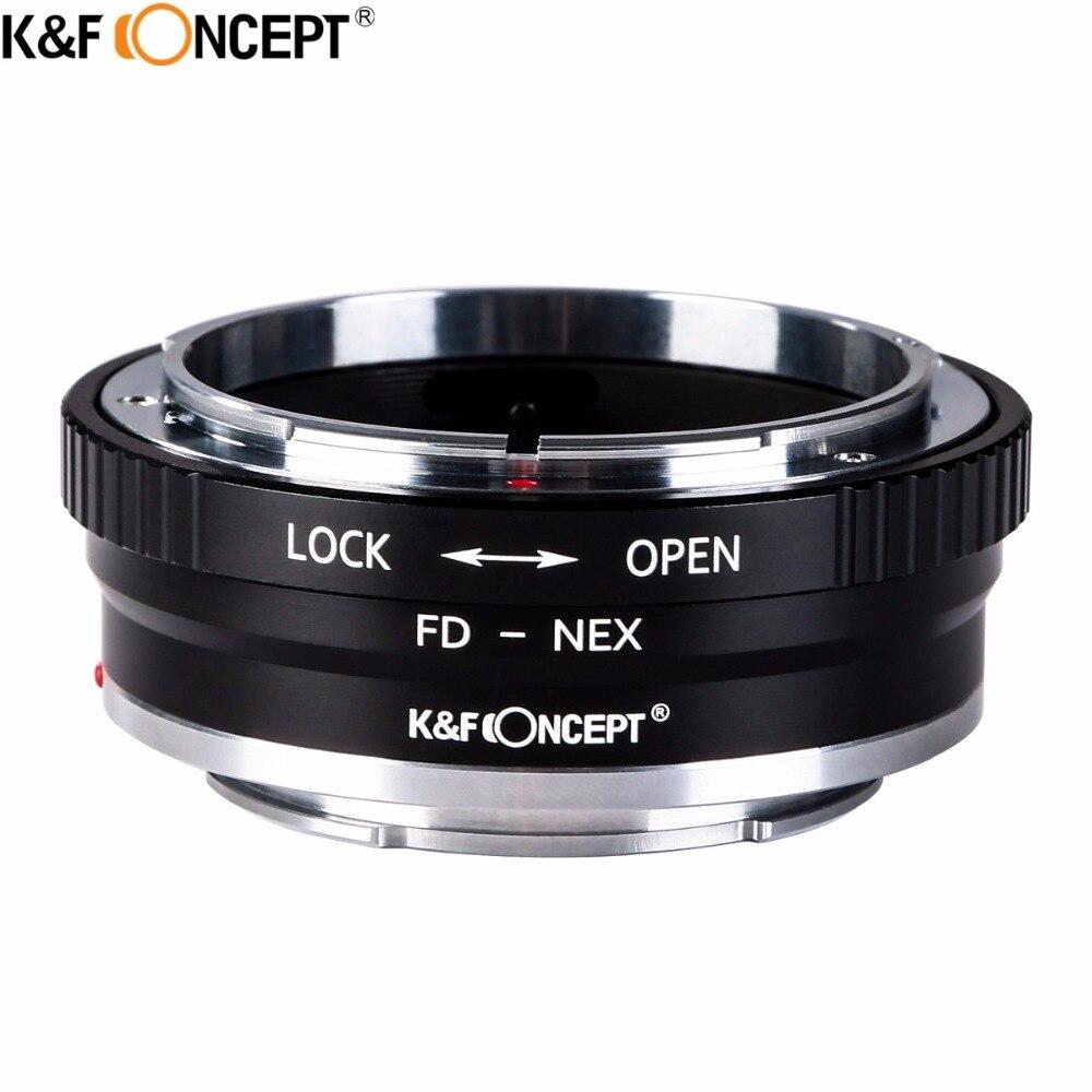 K&F CONCEPT FD-NEX II Camera Lens Adapter Ring For Canon FD Lens to for Sony NEX E-mount Camera Body NEX NEX3 NEX5 NEX5N NEX7