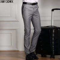 2018 Spring And Summer Male Casual Dress Pants Slim Skinny Men Suit Pants Commercial Western Style Business Herren Hose