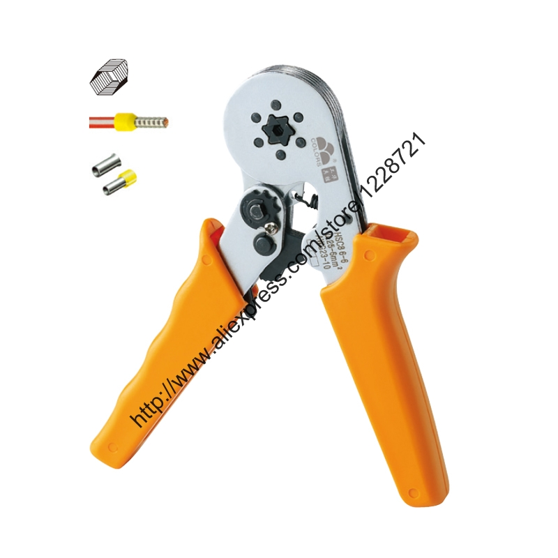 hsc8 6-6 ferrule crimper pliers HSC8 6-6 cable end crimps tool SELF-ADJUSTABLE CRIMPING PLIER 0.25-6mm2 terminals crimping tool hsc8 6 6 24 10 awg 0 25 6 0mm2 terminal crimping pliers tongs clamp tool bootlace ferrules crimper wire cable cord end lug clh