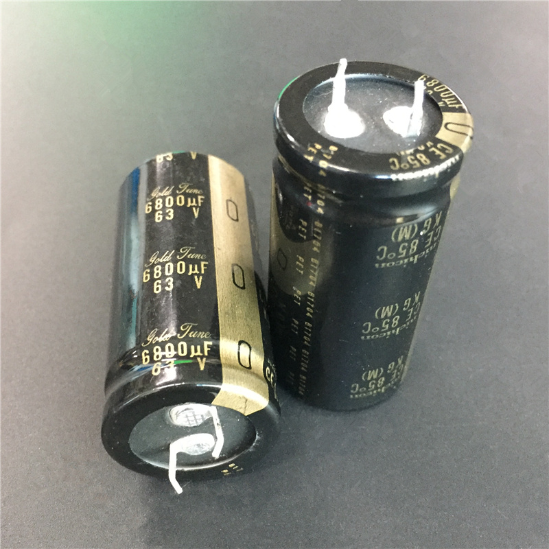 Image 3 - 5pcs 6800uF 63V NICHICON KG series 25x50mm 63V6800uF Gold Tune HiFi Audio Capacitor-in Capacitors from Electronic Components & Supplies