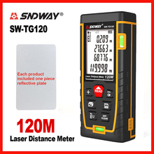 SNDWAY Laser Rangefinder Laser Range Bubble level Electronic Tape Ruler Optical Instruments Finder Laser Distance Meter