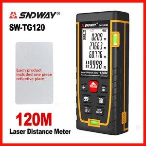 SNDWAY Laser Rangefinder Laser Range Bubble level Electronic Tape Ruler Optical Instruments Finder Laser Distance Meter(China)
