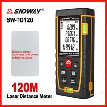 Лазер SNDWAY дальномер лазерный пузырьковый уровень электронная лента Линейка оптические инструменты лазерный дальномер