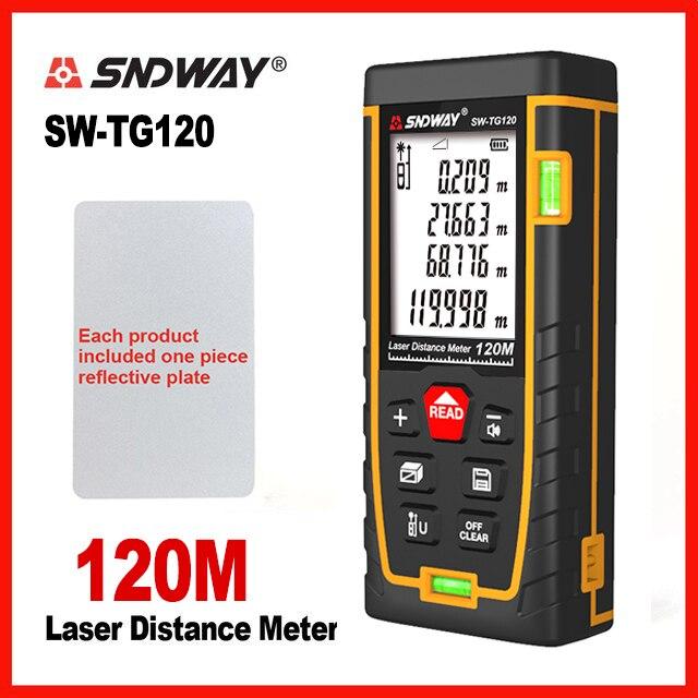 SNDWAY 레이저 거리 측정기 레이저 거리 버블 레벨 전자 테이프 눈금자 광학 기기 파인더 레이저 거리 측정기