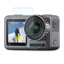 Dji osmo 액션 모션 스포츠 카메라 액세서리에 대한 강화 유리 필름 렌즈 화면 방폭 필름