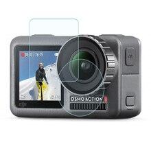 Temperli cam film Lens ekran patlamaya dayanıklı film için DJI OSMO EYLEM motion spor kamera Aksesuarları