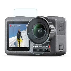 Image 1 - Temperli cam film Lens ekran patlamaya dayanıklı film için DJI OSMO EYLEM motion spor kamera Aksesuarları