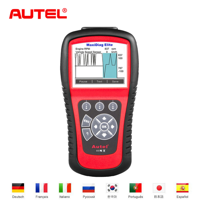New Price Autel MD802 Car Diagnostic-Tool OBD2 Code Reader Scanner Airbag ABS Engine EPB Oil light Auto Scanner Automotivo Diagnostic tool