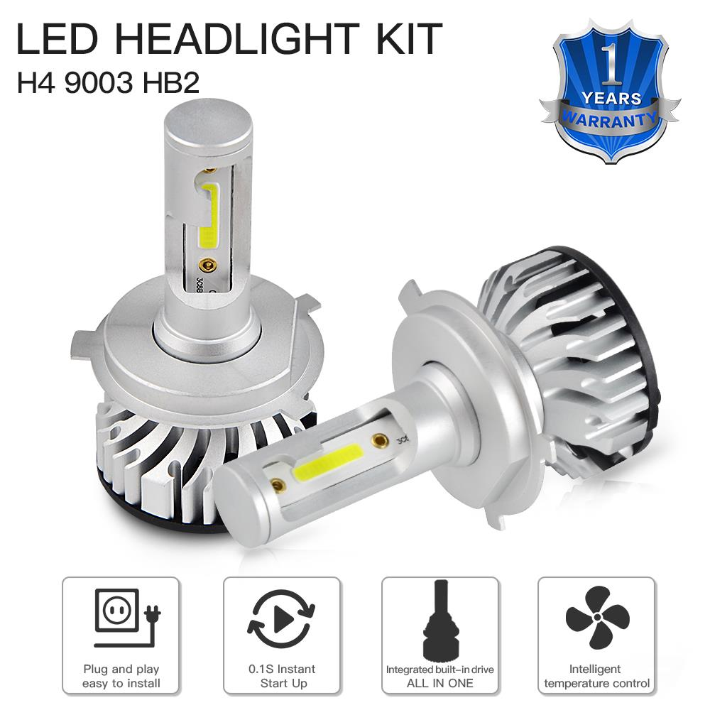 H7 LED Car Headlight h4 car bulb H4 H7 H8 H9 H11 HB2 HB3 HB4 9003 9005 9006 3000LM 6500K Bulbs led Single Beam Dual Beam in Car Headlight Bulbs LED from Automobiles Motorcycles