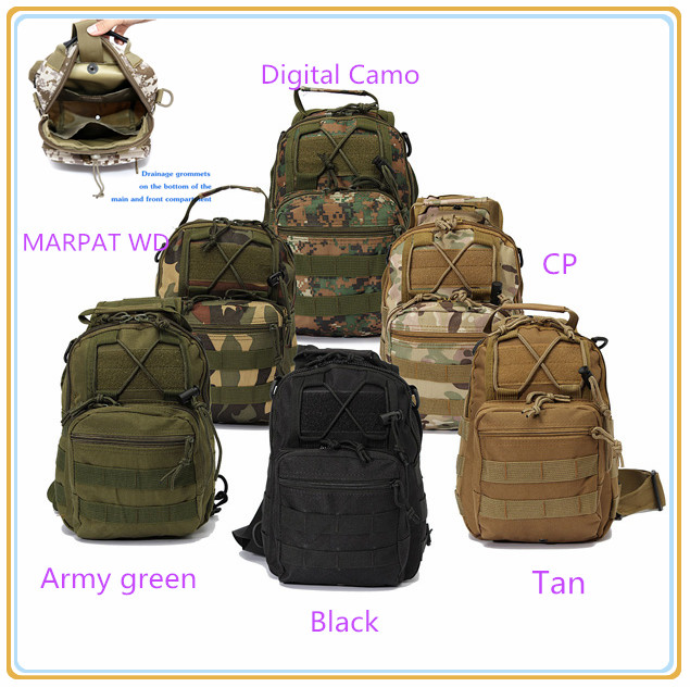 87d2c8ccba Free Outdoor Sports backpack Tactical travelling Pack Sling Single Shoulder  Chest Bag Pack camping hiking Backpack climbing bags