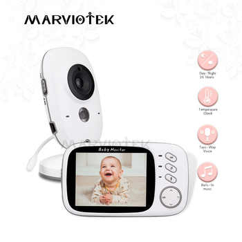 Home Security 3.2 inch Baby Monitor High Resolution Baby Nanny Cam Security Camera Wireless Night Vision Temperature Monitoring - Category 🛒 Security & Protection