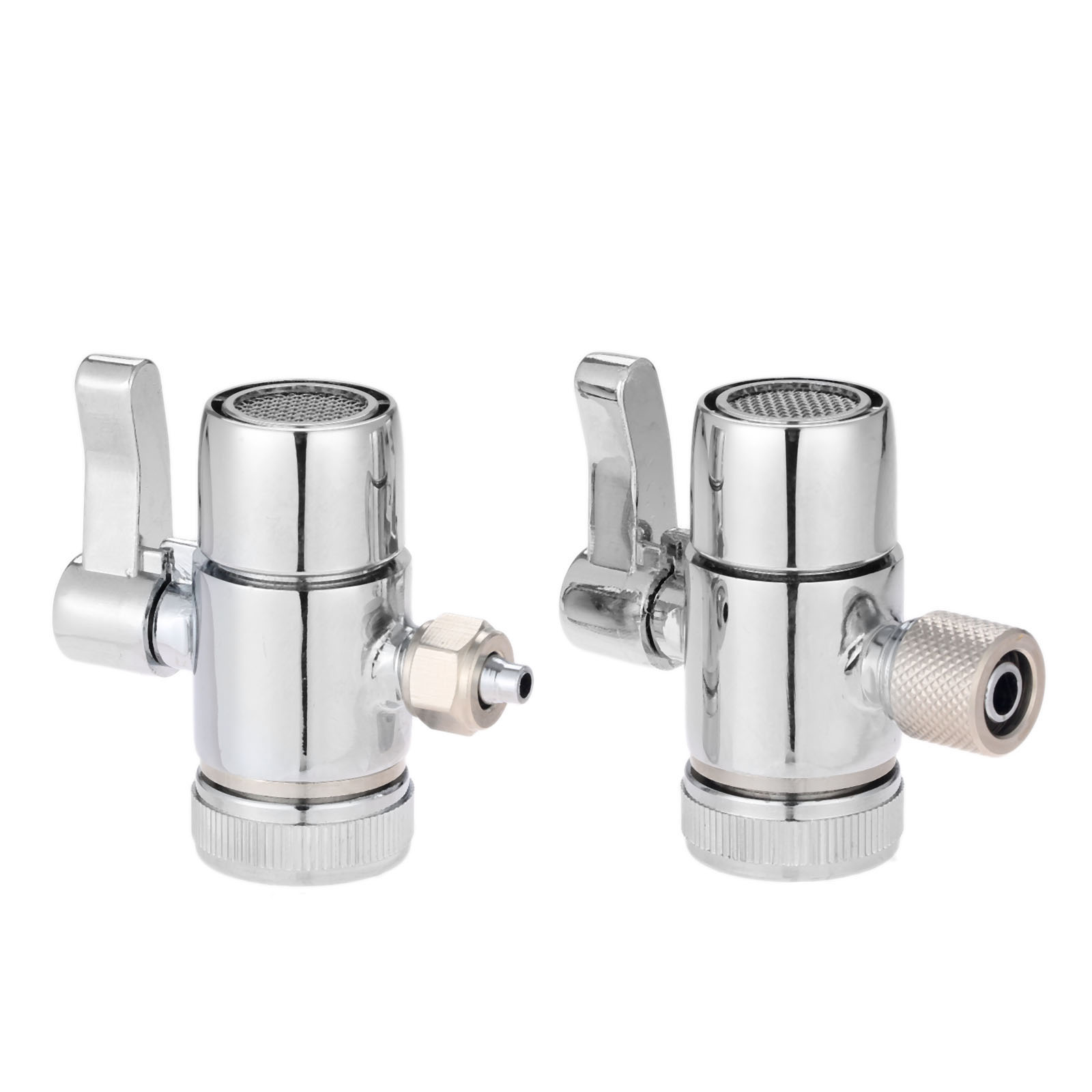 1Pc Faucet Adapter Diverter Valve Counter Top Water Filter 1/4 Inch 3/8 Inch Tube Connector For Ro Water Purifier System