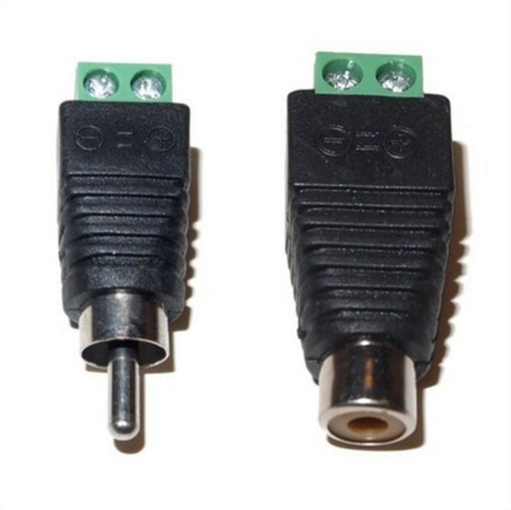 10Pairs CAT5 To Camera CCTV Video Balun RCA female+male jack AV Screw Terminal Connector, RCA MF to terminal Block купить
