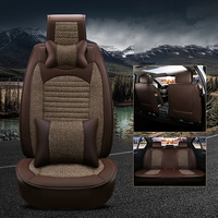 WLMWL Universal Leather Car seat cover for Volkswagen all models polo golf tiguan Passat CC All car model