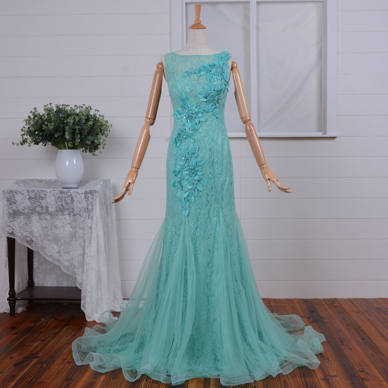 real photos 2018 mermaid vestido de festa lace floor length flower beading elegant evening prom gown mother of the bride dresses