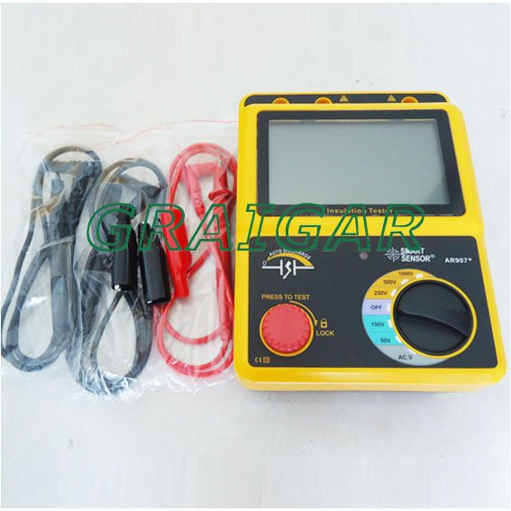 цены  Smart Sensor AR907+ Voltage Insulation Tester Meter 1000v Digital Insulation Resistance Tester