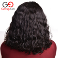 Gossip Girl Indian Virgin Hair Natural Wave Human Hair Bob Wigs Full Lace Human Hair Wigs For Black Women Curly Lace Front Wig