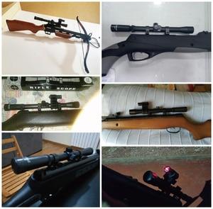 Image 5 - 4x20 rifle óptica scope tactical besta riflescope com ponto vermelho mira a laser e 11mm ferroviário monta para 22 calibre armas de caça a um