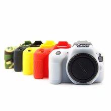 Камера сумка силиконовой резины чехол Крышка для Canon 600D 650D 700D 80D 800D 200D 1500D 1300D 77D 70D 7D2 6D 5D3 5D4 6D2 DSLR Камера