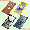 Hot sales Cute Cartoon Silicone Universal Cell Phone Holster Cases For samsung Galaxy Alpha G850 Case Silicon Coque Cover