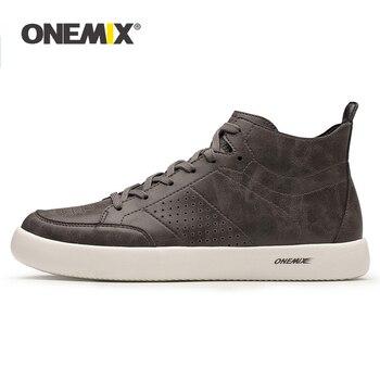 Onemix Δερμάτινα ανδρικά αθλητικά παπούτσια για περπάτημα και τρέξιμο. Μεγέθη 39-45.
