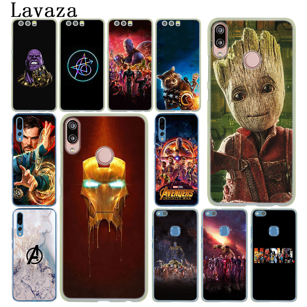 Thanos <font><b>Marvel</b></font> Avengers Endgame Iron Man <font><b>Case</b></font> for <font><b>Huawei</b></font> Y9 <font><b>Y7</b></font> Y6 Prime <font><b>2019</b></font> 2018 Honor 20 8C 8X 8 9 9X 10 Lite 7C 7X 6A 7A Pro image