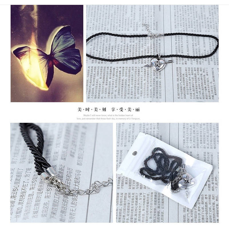 Youpop KPOP Bigbang Leather Chain Pendant Necklace 2016 K-POP New Fashion Accessories Jewelry For Men Or Women Boy Girl XL135