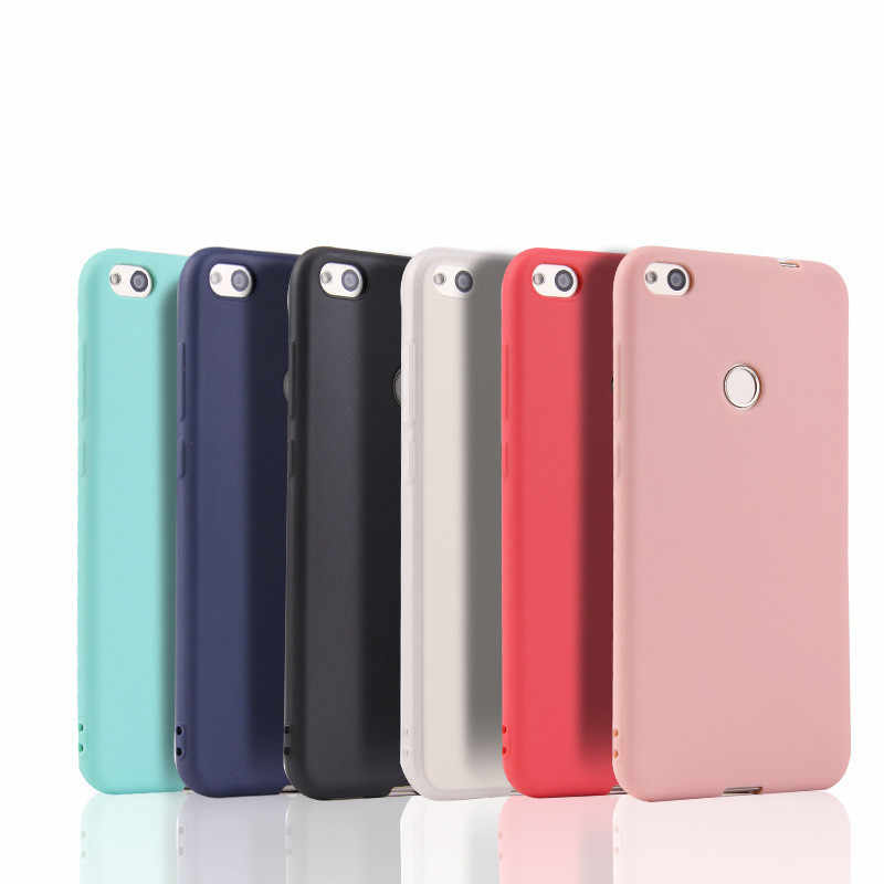 Candy Color Case for Huawei P9 Lite Mini Soft Silicon Cases Ultra Thin Matte Cover For Huawei On P8 P9 Lite 2017 Slim TPU Shell