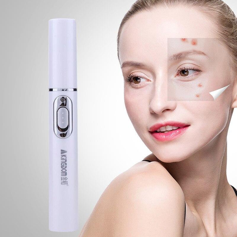 2018 nuevo azul médica de la terapia de luz tratamiento láser pluma suave cicatriz grano arrugas tratamiento de eliminación de dispositivo belleza cuidado de la piel