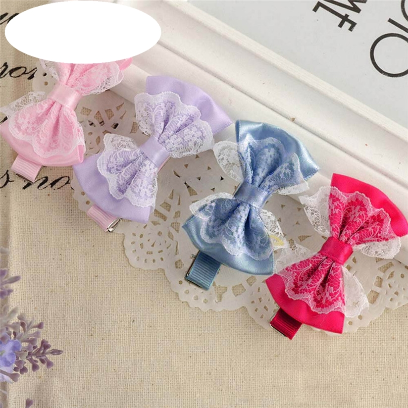 New Baby Hairpin Cute Lace Bowknot Hair Clips Baby Girl Hairpin Child Hair Accessories Free Shipping Hot Selling Wholesale barrettes cute baby girl big bow clips boutique hair pin luxury girls hairpin hair accessories free shipping