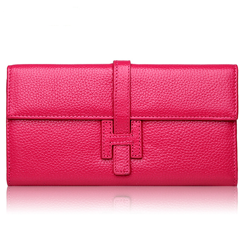 MAIFEINI New Arrival Genuine Leather Wallets Women s Cow Leather Purse Sexy Ladies Famous Brand Clutch