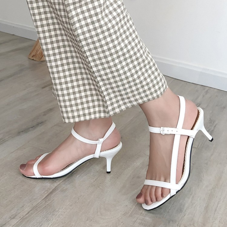 Big Size 11 12 13 14 15 high heels sandals women shoes woman summer ladies One-word buckle with thin heel and shallow mouthBig Size 11 12 13 14 15 high heels sandals women shoes woman summer ladies One-word buckle with thin heel and shallow mouth