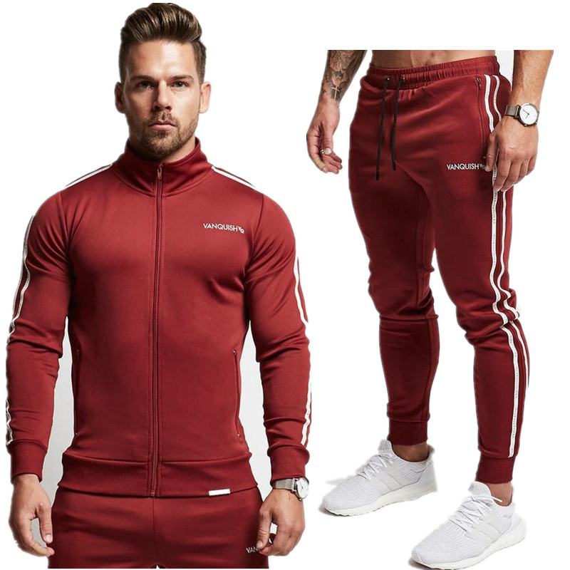 SUNNY Store MenCamouflage Hooded Outdoor Fitness Tracksuit Running Sports Jacket and Pants