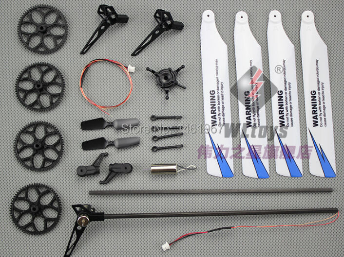 Honesty Hot Wltoys V966 V977 Rc Helicopter Spare Parts Bag Tai Motor Blades Big Gear Etc Year-End Bargain Sale Tool Parts