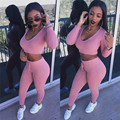 Women Sets With Pants Hooded Tops Casual Suit Fashion Casual 2 Piece Set Woman Sexy Crop Top And Pants Outfits Plus Size
