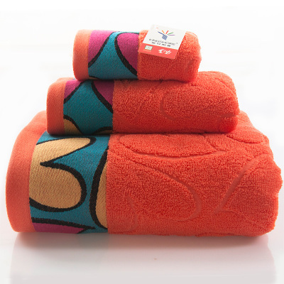 Cotton adult Towel Set 3Pcs Bath Hand Face Beach Pink towels embroidery family adult gift wedding Home wholesale FG453