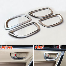 4x ABS Inerior Inner Side Door Handle Bowl Cover Frame Decoration Trim Sticker Fit For Toyota Corolla 2014 Interior Mouldings