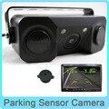 2 в 1 Нет Автомобиля HD CCD Камера Заднего вида с 2 Датчик Парковки Звуковой Сигнал Парковка Помощи Системы Показать Изображение и Расстояние
