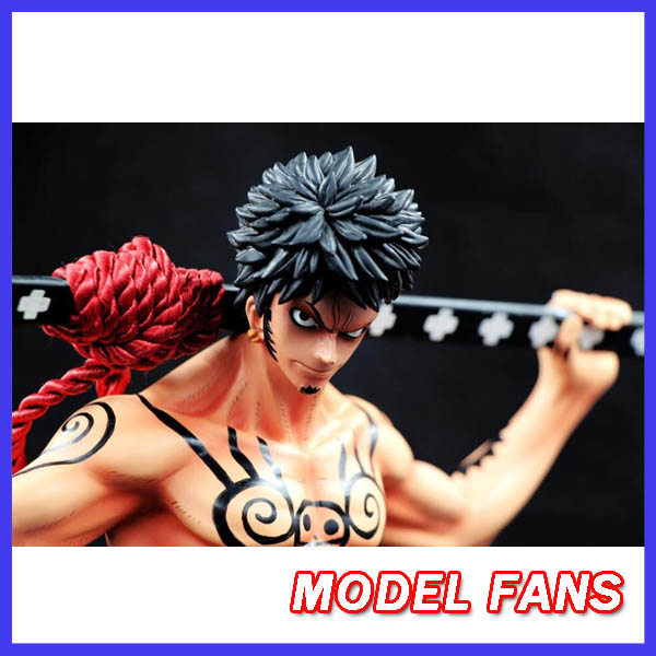MODEL FANS INSTOCK One Piece 34cm Trafalgar Law gk resin figure toy for Collection Handicrafts model fans instock one piece 18cm donquixote doflamingo vs trafalgar law gk resin toy figure for collection