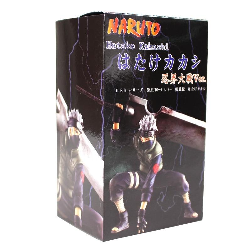 Naruto Shippuuden Hatake Kakashi with Sword Shinobi World War Figurine Ver. PVC Action Figure Collection Model Toys Dolls 17