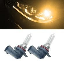 цена на 2pcs Car halogen Headlight 9012 LL HIR2 HIR PX22d 55W 12V 4300K Auto Bulb Lamp Replace Halogen Xenon HID
