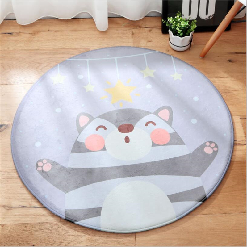 2018 New Lovely Kid Climb Soft Round Carpets For Living Room Bedroom Kid Room Rugs Home Carpets Floor Door Mat Fashion Area Rug
