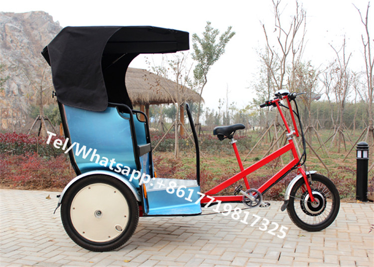 T02 Blue Color Main Street Auto Pedicab Rickshaw For Sale Used